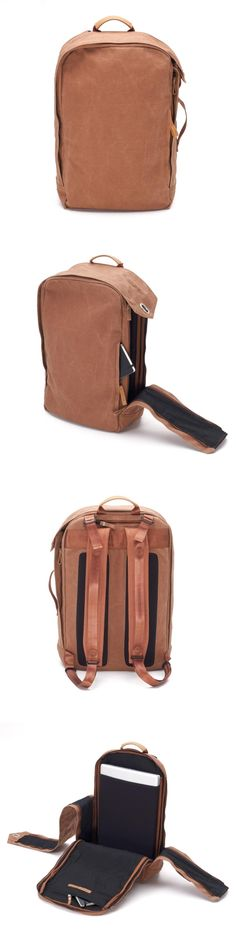 very nice material QWSTION 2012 - Backpack Washed Leather Brown My Bags, Purses And Bags, Leather Craft, Leather Bag, Fashion Bags, Mens Fashion, Mode Style, Backpack Bags, Laptop Backpack