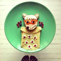 Abuelita lobo de caperucita by Ida Frosk #funfood #foodart