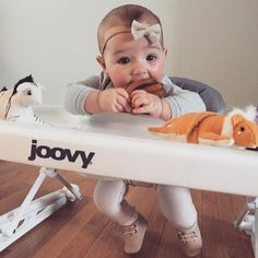 Her two favorite toys right now, her joovy spoon walker and her new calmie ball. #joovy #joovyspoon #calmie #landofnod #sweetnswag #babyfashion #bellamychristina #babywalker #toobigtoofast #thelandofnod #teething #babyteethingtoy