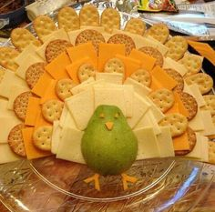 Turkey cheese platter for next year-partridge in a pear tree., - Turkey cheese platter for next year-partridge in a pear tree., Turkey cheese platter for next year-partridge in a pear tree. Thanksgiving Dinner Recipes, Thanksgiving Parties, Thanksgiving Turkey, Holiday Recipes, Fun Recipes, Thanksgiving Platter, Guava Recipes, Healthy Recipes, Summer Recipes