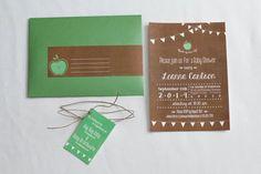 Apple Of My Eye Baby Shower Invitation by TheFreshPrintsShop