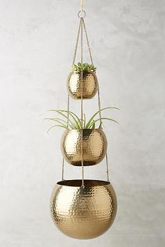 Love this tiered hanging planter. Pretty for the living room.