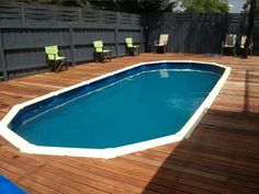 Image detail for -. Gallery of Above Ground Pool Deck Plans: Thinking to Upgrade your Pool Above Ground Pool Decks, Above Ground Swimming Pools, In Ground Pools, Free Deck Plans, Pool Deck Plans, Build Your Own Pool, Swimming Pool Decks, Free Pool, Fiberglass Pools