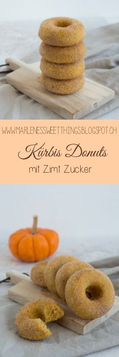 Kürbis Donuts mit Zimtzucker aus dem Ofen ist ein einfaches Rezept für den Her… Pumpkin donuts with cinnamon sugar from the oven is a simple recipe for the fall for the whole family. Best Donut Recipe, Donut Recipes, Apple Cider Donuts, Cinnamon Donuts, Healthy Cake, Baked Pumpkin, Pumpkin Dessert, Vegan Sweets, Pampered Chef