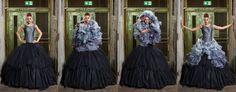 Vier in einem - wunderbares elegantes Brautkleid von ANNE WOLF! ---- 4 in 1 changable black wedding dress.  https://www.marryjim.com/de/Anne-Wolf/Designer-Brautkleider/id640