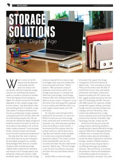The Callsheet Issue 2 G Drive, Sound Studio, Press Release, Storage Solutions, Technology, Film, Digital, Cards, Tech
