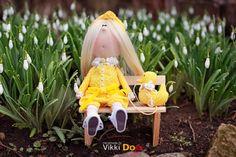 Текстильная Кукла-Интерьерная Кукла-Кукла Ручной Работы-Мягкая Игрушка -Детство-Игрушки в Подарок-Кукла Из Ткани-Авторская Кукла-Утка-Уточка by VikkiDoLis on Etsy
