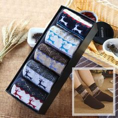 5 Pairs/Lot 2017 Brand Fashion High Quality Wool Socks Men Winter Cashmere Breathable Socks 12 Colors With Gift Box Hot Sale Cashmere Socks, Wool Socks, Socks Men, Women Boxing, Fashion Brand, Pairs, Gifts, Winter, Type