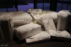 """Snow"" covered Christmas presents"