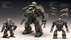 heavy Assault Mech (Atlas) by Avitus12