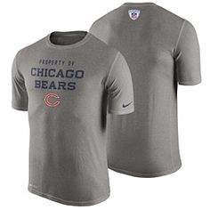 Get this Chicago Bears Gray Property Of Dri-Fit T-Shirt at ChicagoTeamStore.com