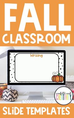 Are you filling your classroom walls with Fall decor yet? Don't forget to include your Google/Powerpoint slide templates! These editable slide templates are a great way to keep your day organized while staying festive at the same time! Your students will love it! Fall classroom decorations // Fall bulletin boards // Fall classroom door decor // Google slide templates Fall Classroom Door, Fall Classroom Decorations, High School Classroom, Classroom Walls, Classroom Design, Classroom Themes, Google Powerpoint, Powerpoint Slide Templates, Meet The Teacher Template