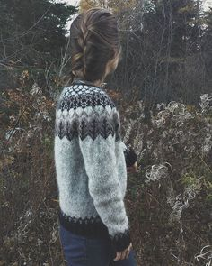 Woodland Lopapeysa with last of the sprite-like fireweed 💛💛 Icelandic Sweaters, Hand Knitting, Pullover, Woodland, Men Sweater, Instagram Posts, Island, Fashion, Breien