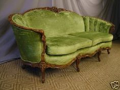 ANTIQUE 30s CURVY FRENCH LOUIS XV FANCY SOFA SETTEE