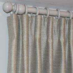 Cartridge pleat curtains in one of our tanjore silks