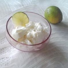 "Coconut Lime Sorbet | ""The perfect ending for an exotic meal. Sweet and tart without being heavy--very refreshing."""