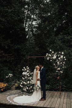 Elegant garden wedding with rose and greenery backdrop | Image by Nomad by NK Sikh Wedding, Wedding Blog, Wedding Ceremony, Wedding Venues, Wedding Dresses, Elegant Wedding, Celebrity Weddings, Multicultural Wedding, Garden Wedding Inspiration