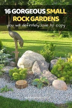 16 Gorgeous Small Rock Gardens You Will Definitely Love To Copy - Garden Care tips, Garden ideas,Garden design, Organic Garden Rock Garden Design, Rock Design, Plants For Rock Garden, Succulent Rock Garden, Landscaping With Rocks, Backyard Landscaping, Landscaping Ideas, Mulch Ideas, Modern Backyard