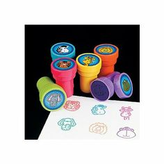 Amazon.com: ~ 24 ~ Jungle Zoo Safari Stampers Self-ink Stamps ~ NEW: Toys & Games