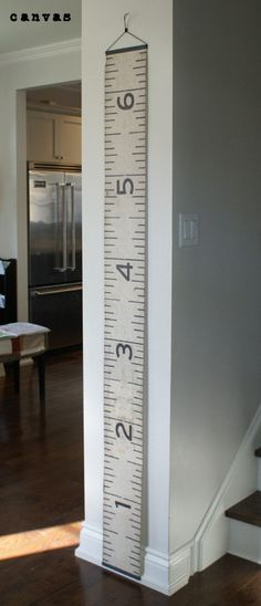 Growth Chart - So classic, so portable, I must get a canvas growth chart for our home
