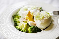 #breakfast #poached #egg #broccoli #prosciutto #foodcoaching