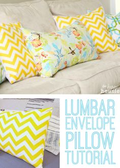 Lumbar Envelope Pillow Tutorial
