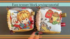 DIY texture blocks sewing tutorial. It's the block form of a quite book.