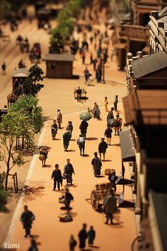 Miniature model of old Ginza-city in Edo, Tokyo Musem. I love this Diorama: it's very extensive and meticulous and (for me) a must-see on a trip to Tokyo