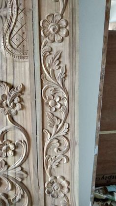 Extraordinary Wood Carving Designs For Door Frames Gallery - Furniture Wood Carving Faces, Dremel Wood Carving, Wood Carving Designs, Wood Carving Patterns, Wood Carving Art, Wood Patterns, Wood Carvings, Wood Art, Front Door Design Wood
