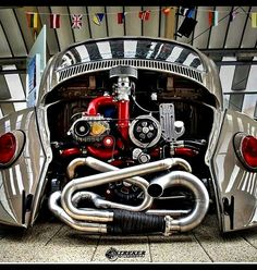 More shots of my efi package that installed from As you can see the car is also bagged and… Jetta Vw, Bus Engine, Ultimate Garage, Porsche Models, Volkswagen Group, Drag Cars, Vw Beetles, Hot Cars, Classic Cars