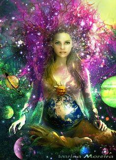 Gaia,era a deusa da Terra , como elemento primordial e latente de uma potencialidade geradora quase absurda. Segundo Hesíodo , ela é a s...