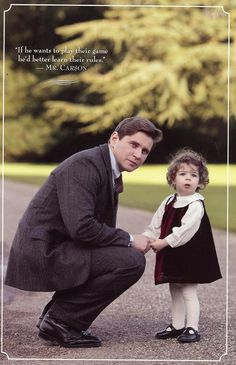 Downton Abbey Season 4, Tom and adorable baby Sybbie :)