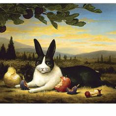 The Mona Lisa of rabbits by Kevin Sloan. Brilliant!