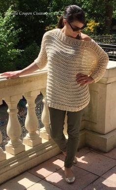 pull loose facile à tricoter
