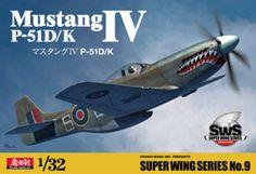 Zoukei Mura SWS09 Super Wing Series 1/32 scale P-51D/K Mustang IV RAF Fighter #ZoukeiMura