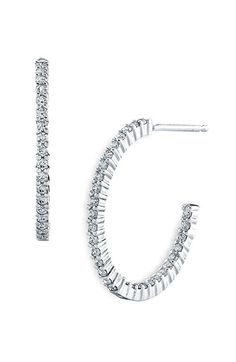 Bony Levy Diamond Hoop Earrings (Nordstrom Exclusive) available at #Nordstrom