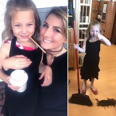 """Aunt Jess had a little helper today for take your (god)child to work day! Harper loved hanging out with us because she wants to be a """"hair saloner"""" when she grows up! #loveit #takeyourchildtoworkday #hairlove #futurestylist #beauty #kiddo #auntlife"""