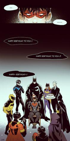 Dear Jason~♬ Happy birthday to you~🤗♪ Dc Comics Funny, Dc Comics Girls, Dc Comics Heroes, Arte Dc Comics, Dc Comics Characters, Gotham, Batman Robin, Jason Todd Batman, Nightwing