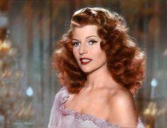 The ultimate redhead. ~ Rita Hayworth in Color !