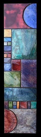 Art Deco Half Sun Firescale, Kim Eubank and Will Armstrong metal wall scuplture