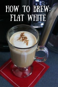 How to Brew a Flat White - Cooking with Books