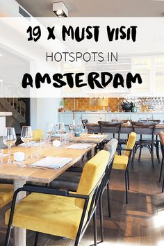 "Amsterdam has some new hotspots! Want to know where these new bars, cafes and restaurants are? Check the list on travel blog http://www.yourlittleblackbook.me & go visit these hotspots in Amsterdam. Planning a trip to Amsterdam? Check http://www.yourlittleblackbook.me/ & download ""The Amsterdam City Guide app"" for Android & iOs with over 550 hotspots: https://itunes.apple.com/us/app/amsterdam-cityguide-yourlbb/id1066913884?mt=8 or https://play.google.com/store/apps/details?id=com.app.r3914JB"