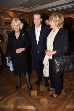 Camilla with her son, Tom Parker Bowles, and her sister Annabel Elliot.