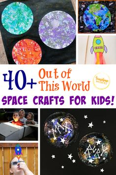 If you have a science lover in your home, it is safe to say, they probably love space! The topic of space makes great crafts! Your kids will love these space crafts. They are out of this world and tons of fun! So, on a day when you're at home with your kids or it's raining outside, try one of these fun, out of this world space crafts for kids! #space #crafts #craftsforkids #kidscrafts #kidsactivities Space Activities For Kids, Space Crafts For Kids, Crafts For Kids To Make, Kids Crafts, Steam Activities, Learning Activities, Cute Crafts, Craft Stick Crafts, Simple Crafts