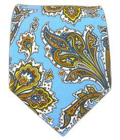 Vintage Paisley - Ocean Blue - Vintage Paisley - Ocean Blue Ties