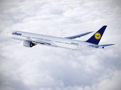 Concepção artística do Boeing (nas cores da Lufthansa) Boeing 777, Aviation, Aircraft, Vehicles, Airplanes, Type, Twitter, Image, Commercial Aircraft