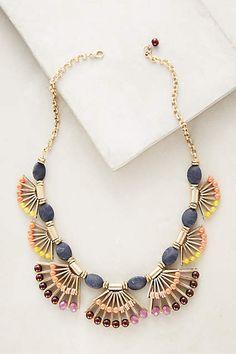 Lavish Fanned Bib Necklace - anthropologie.com