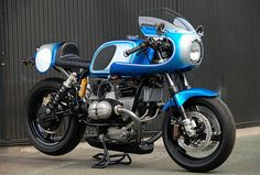 Ritmo Sereno R100 RS.   There is nothing like a Ritmo-Sereno BMW. The details, the finish, the entire package is a master class in the production of a custom motorcycle. This is the latest, a gorgeous blue R100 RS.