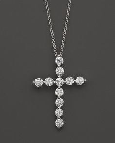 Bloomingdale's Diamond Cross Pendant in White Gold, ct. Cross Jewelry, Pearl Jewelry, Jewelery, Jewelry Accessories, Women Jewelry, Jewelry Ideas, Diamond Cross Necklaces, Best Friend Jewelry, Pendant Design