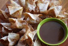 Chai Pumpkin Puffs with Pomegranate Caramel Dipping Sauce | Dixie Crystals Recipe